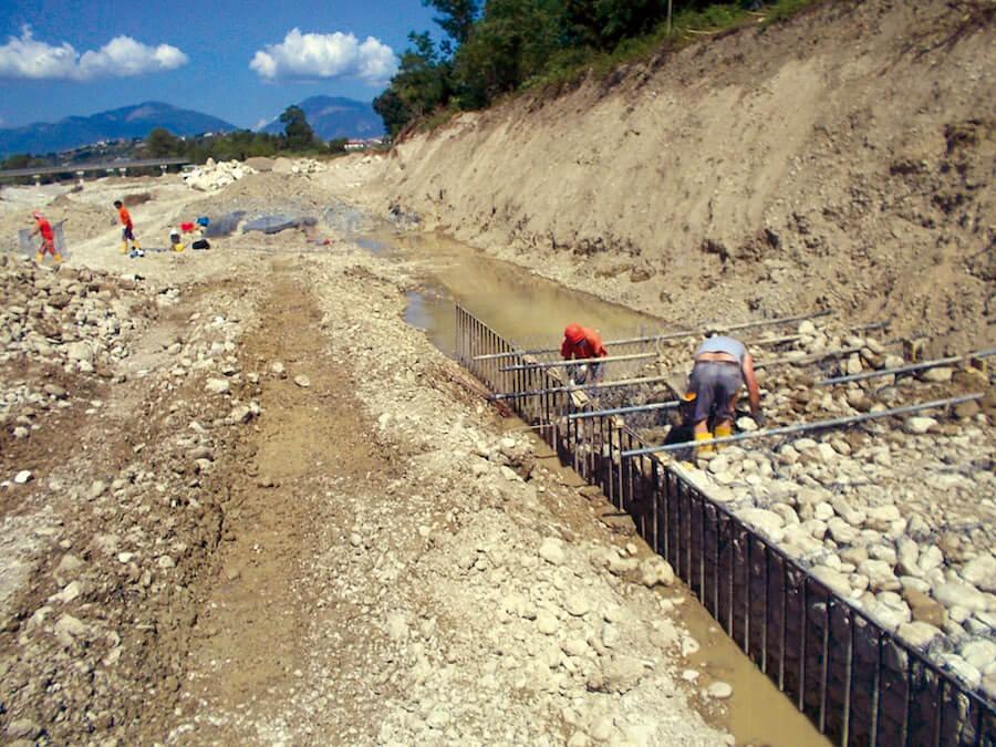 Sistemazione argini fiume Tordino